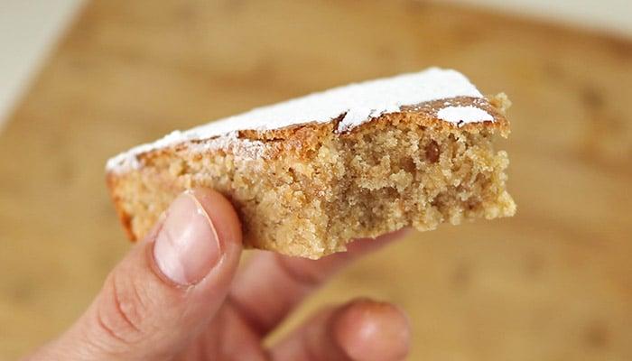 Foto Bizcocho de almendras tarta de santiago