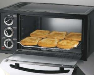 horno tostador preparando tostadas