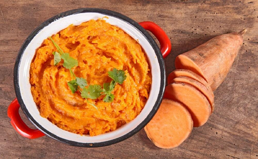 Puré de batata ¡ Cremoso y rico lleno de antioxidantes !